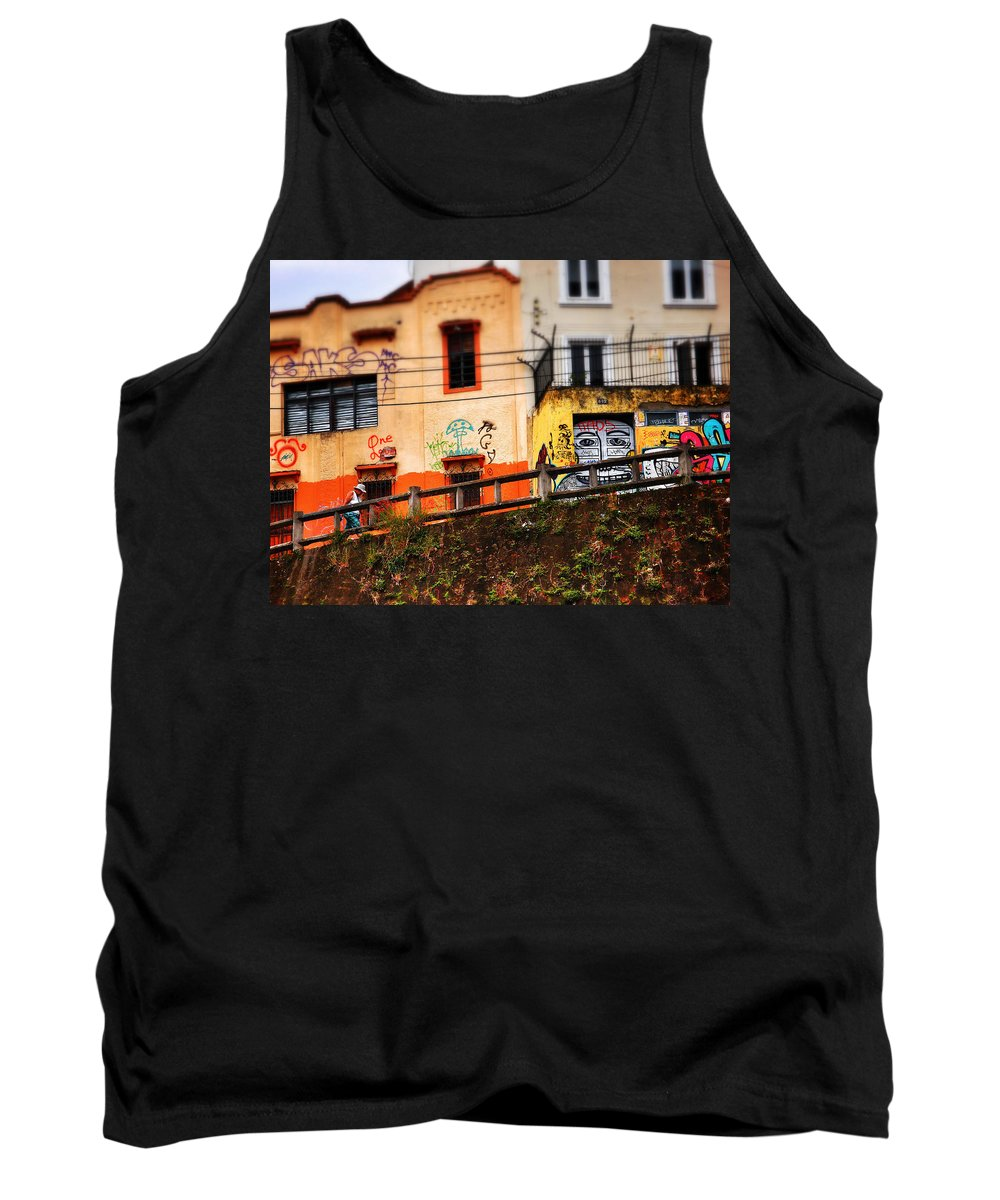Saks Tank Top featuring the photograph Saks by Skip Hunt