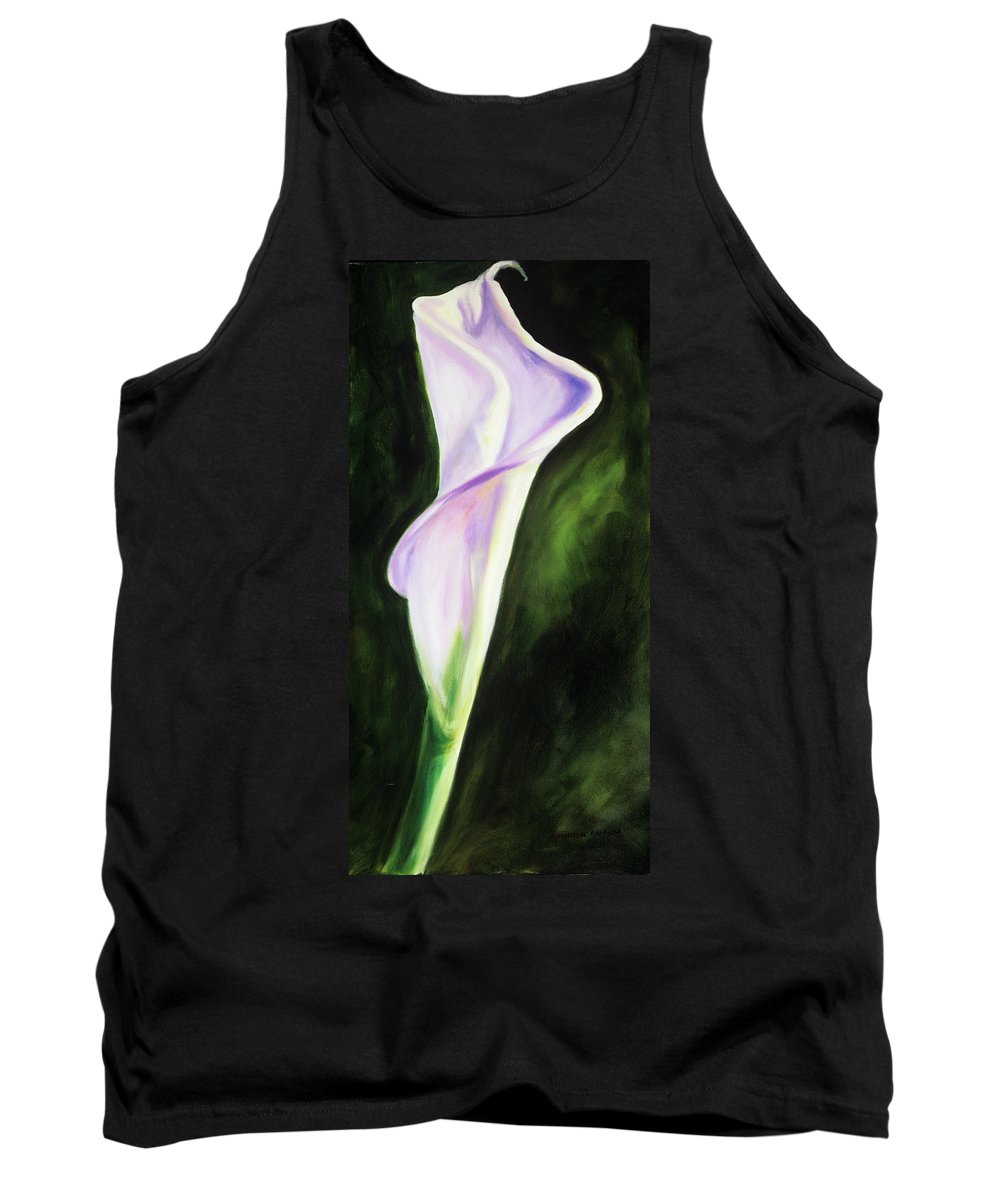 Calla Lily Tank Top featuring the painting Sally P by Shannon Grissom