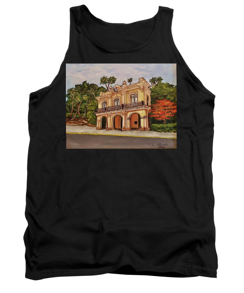 Florida Keys Tank Top featuring the painting San Carlos Institute by Lois Rivera