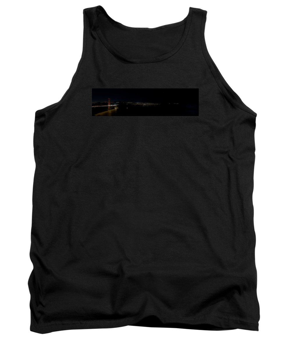 San Francisco Tank Top featuring the photograph San Francisco Golden Gate At Night by Grant Groberg