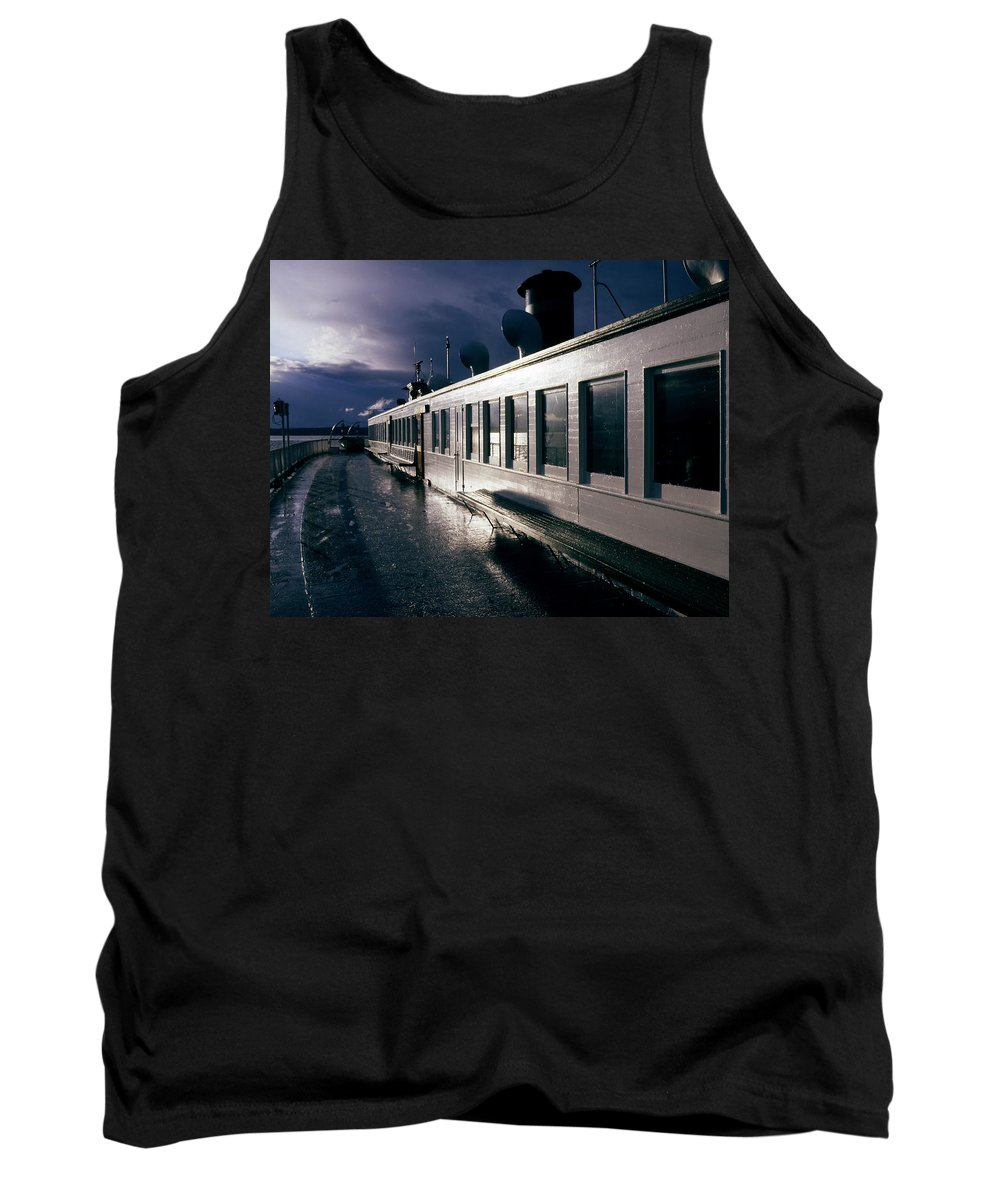 Scenic Tank Top featuring the photograph San Juan Islands Ferry by Lee Santa