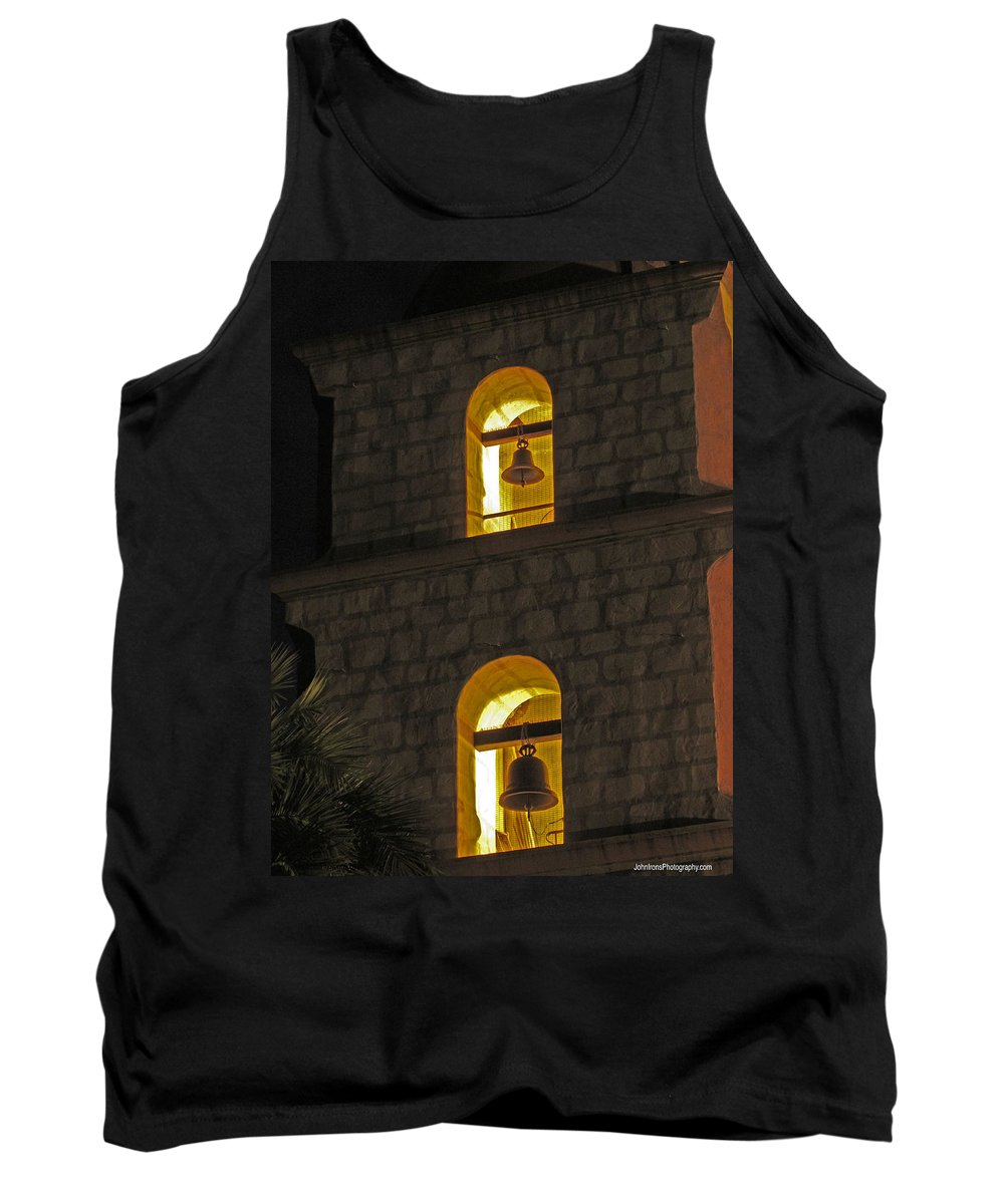 Art Sale Tank Top featuring the photograph Santa Barbara Mission Bell Tower by John Irons
