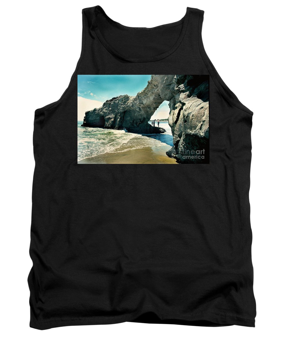 California Scenes Tank Top featuring the photograph Santa Cruz Beach Arch by Norman Andrus