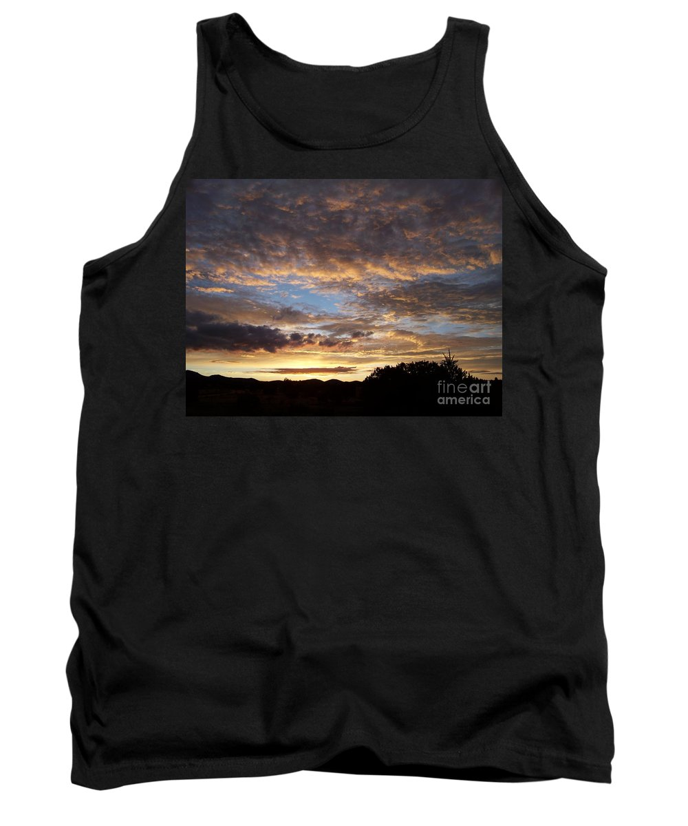 Sunrise Tank Top featuring the photograph Santa Fe Sunrise by Brian Commerford