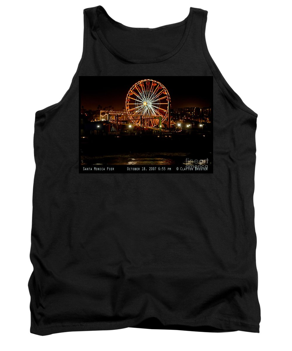 Clay Tank Top featuring the photograph Santa Monica Pier October 18 2007 by Clayton Bruster