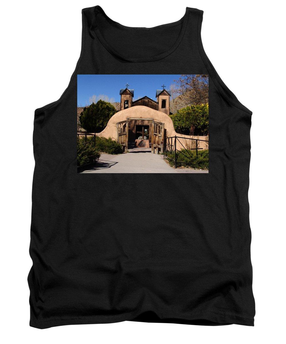Church Tank Top featuring the photograph Santuario De Chimayo Adobe Chapel by Carol Milisen