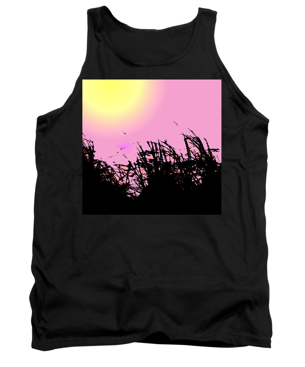 Grass Tank Top featuring the digital art Saw Grass by Ian MacDonald