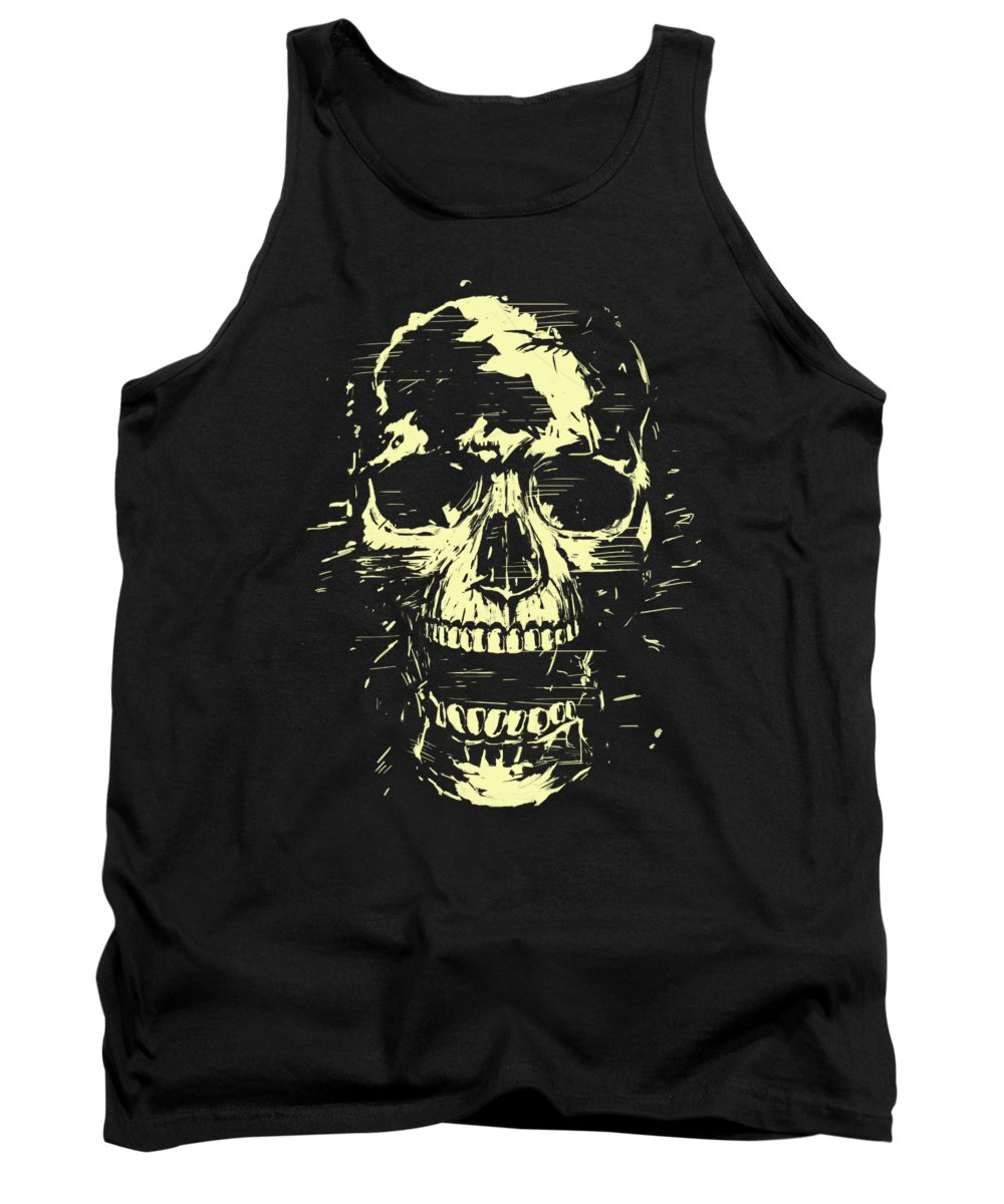 Skull Tank Top featuring the mixed media Scream by Balazs Solti