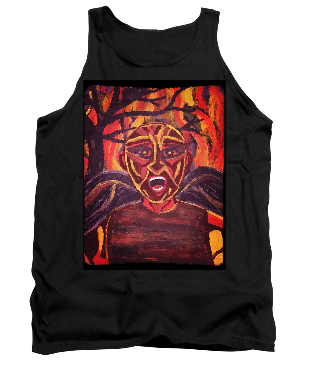 Tank Top featuring the painting Screaming Demon by Patricia Snoderly