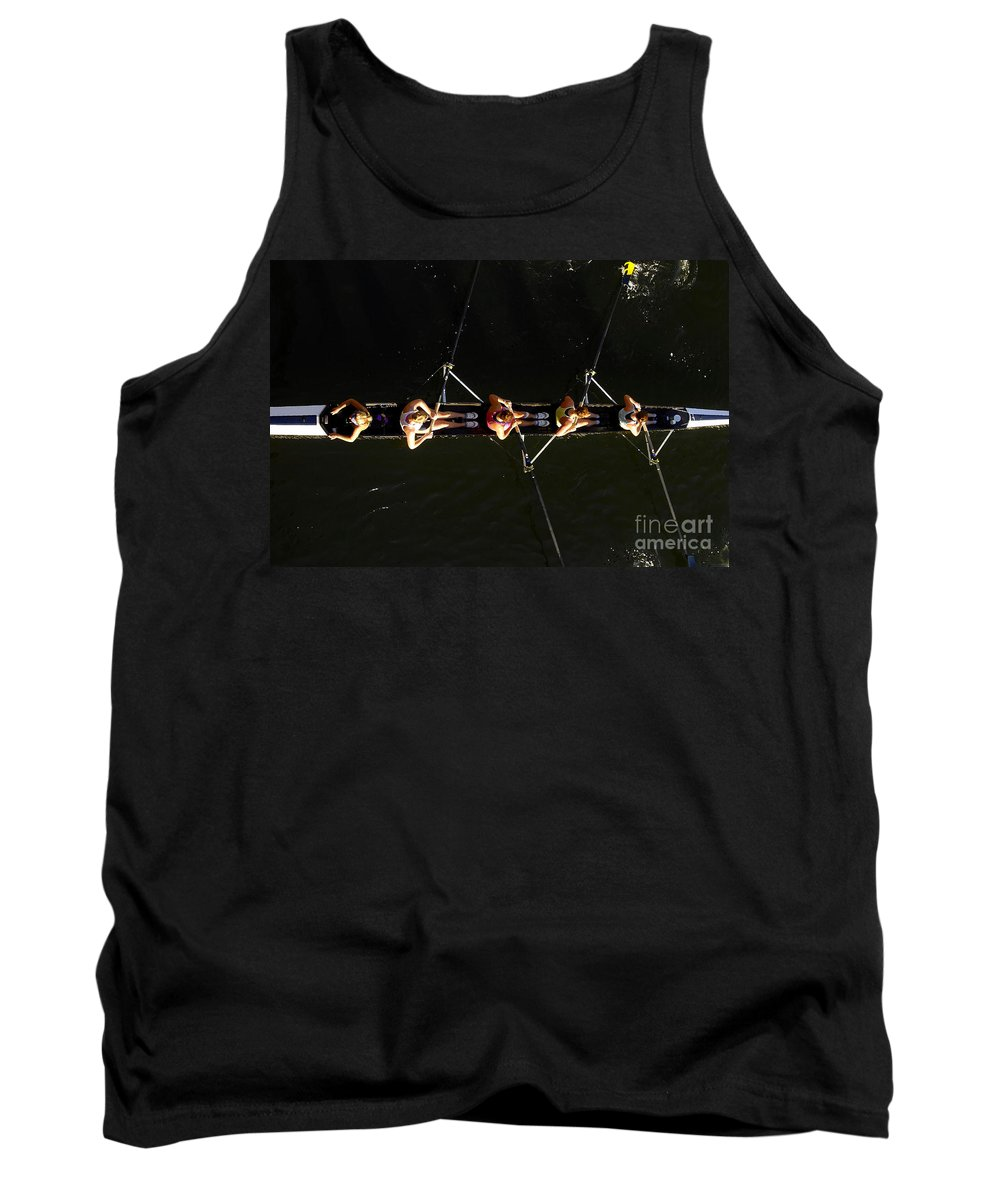 Women Tank Top featuring the photograph Sculling by David Lee Thompson