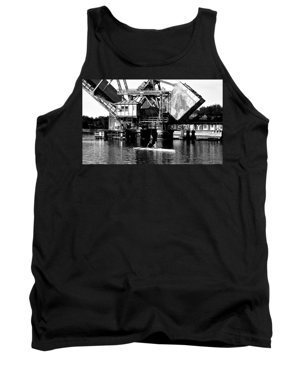 Sculling Tank Top featuring the painting Sculling For Two by David Lee Thompson