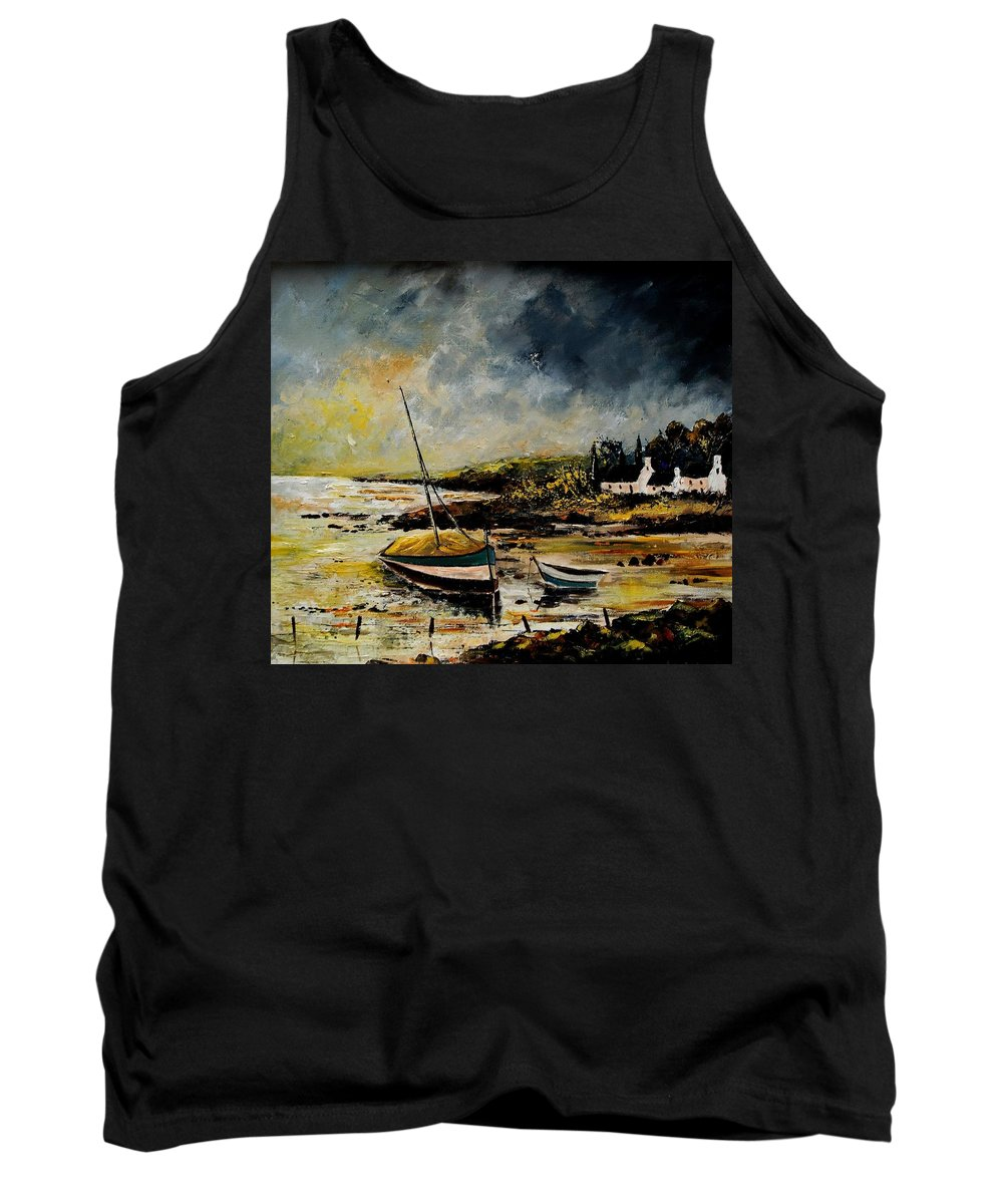 Sea Tank Top featuring the painting Seascape 452654 by Pol Ledent