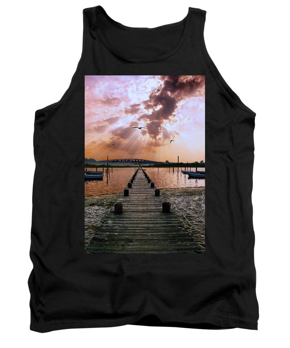Seascape Tank Top featuring the photograph Seaside by Steve Karol