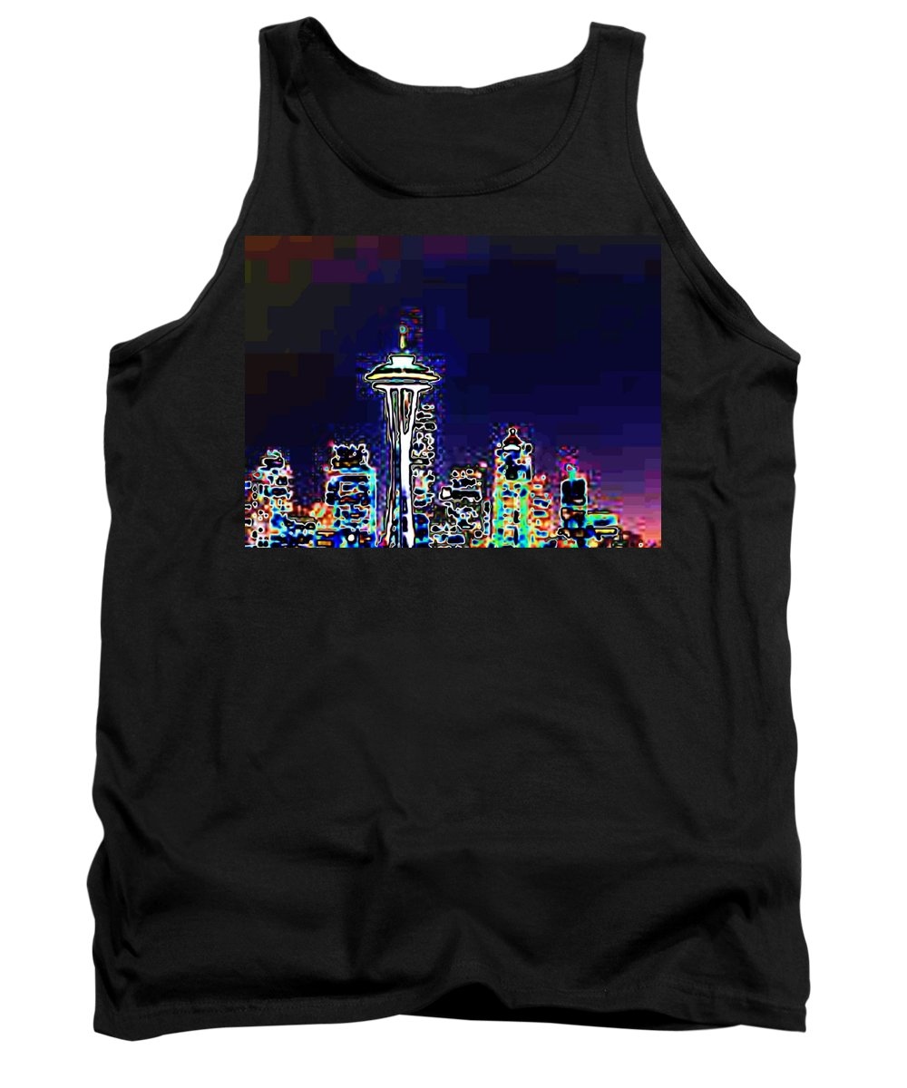 Seattle Tank Top featuring the photograph Seattle Skyline by Tim Allen