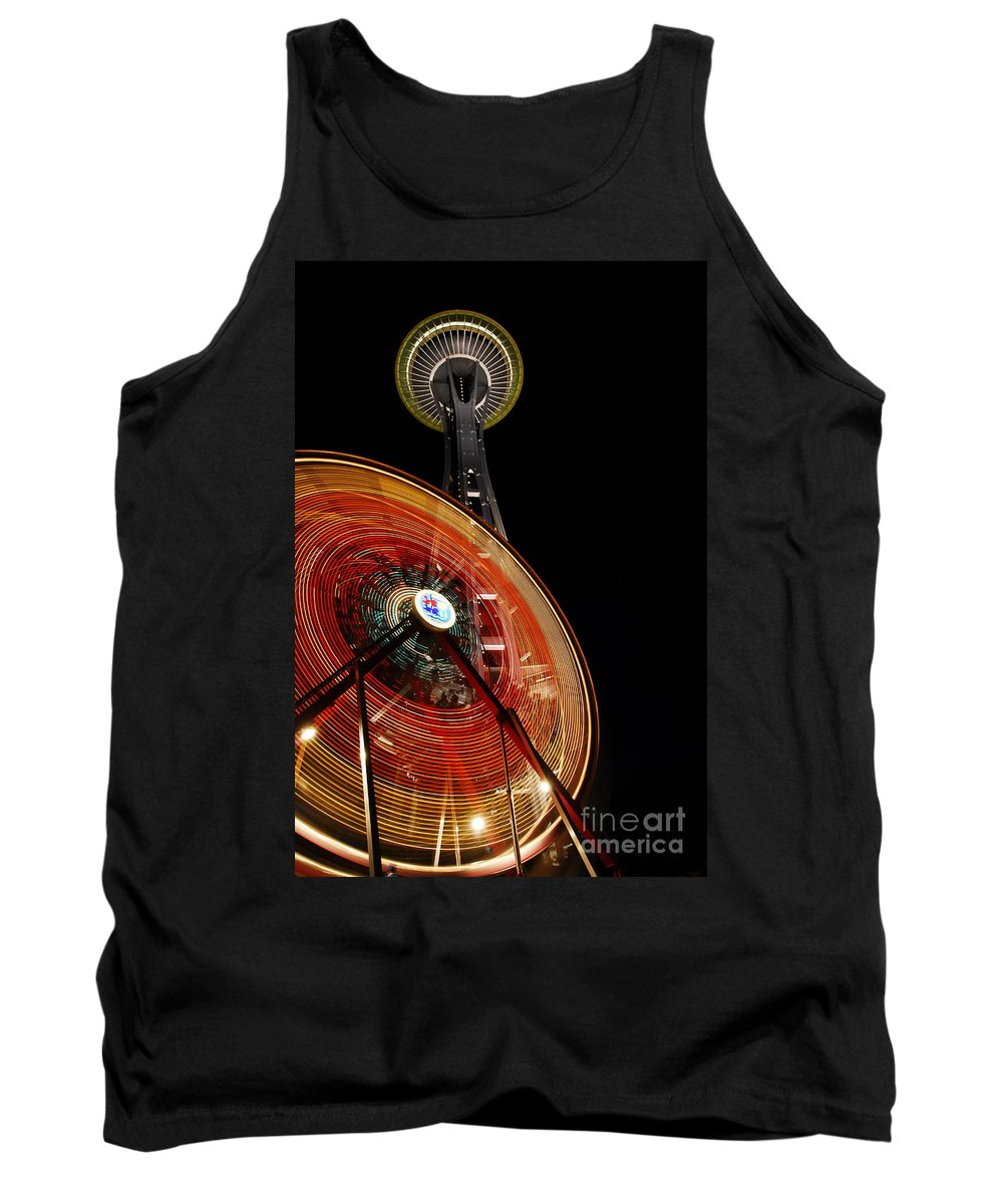 Seattle Tank Top featuring the photograph Seattlelights by David Lee Thompson