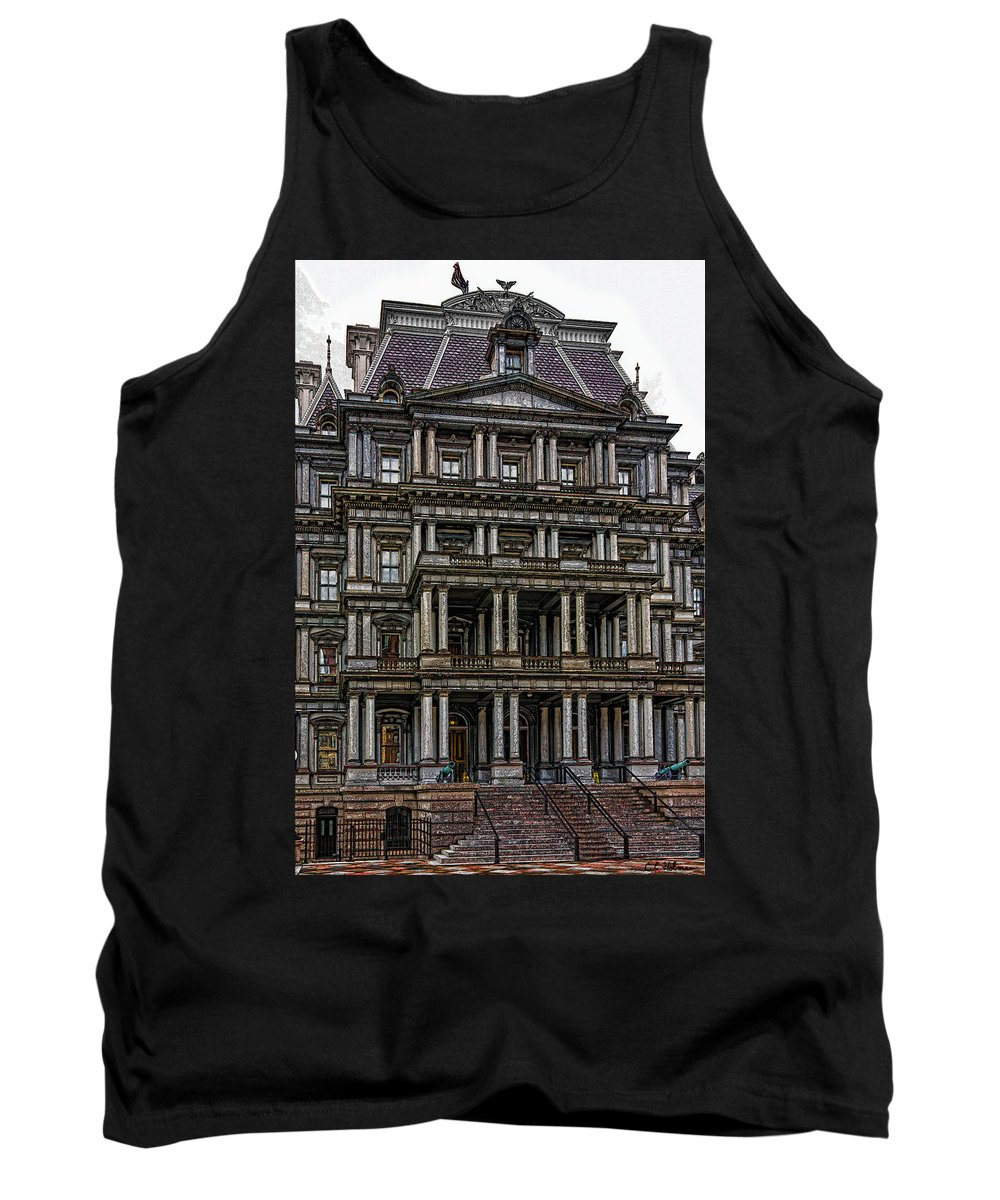 Building Tank Top featuring the photograph Second Empire by Christopher Holmes