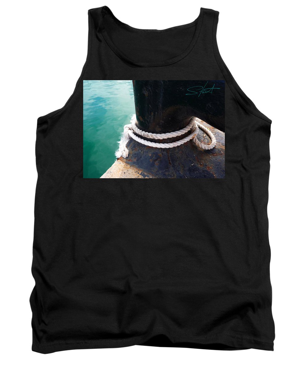 Fishing Net Tank Top featuring the photograph Secure by Charles Stuart