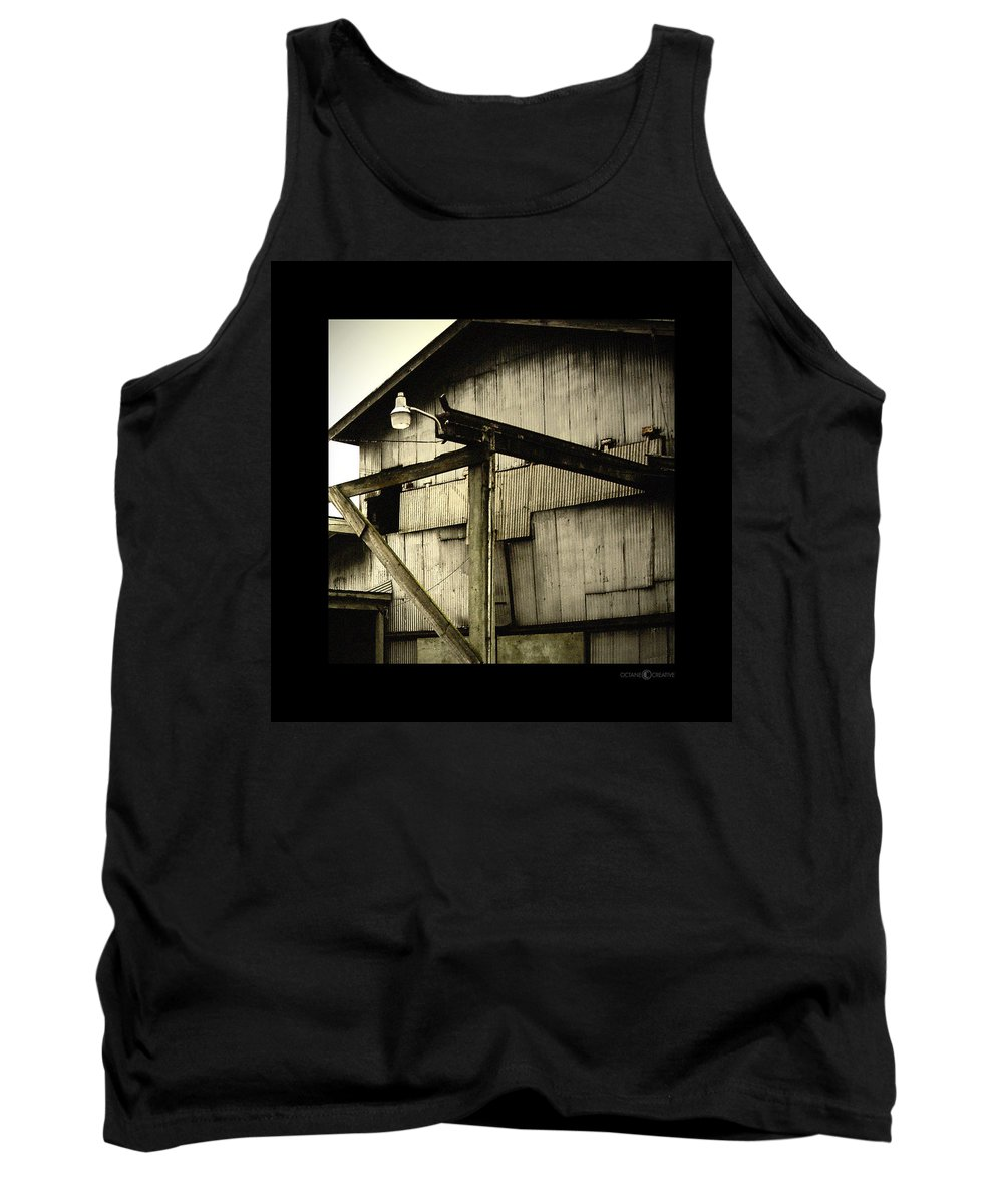 Corrugated Tank Top featuring the photograph Security Light by Tim Nyberg