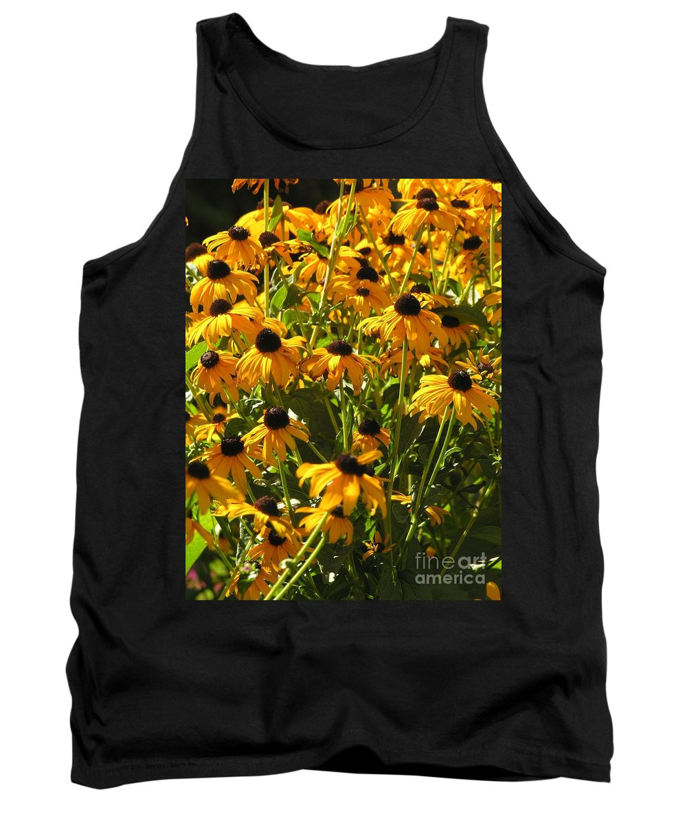 Sunflower Tank Top featuring the photograph See Us Together by Diane Greco-Lesser
