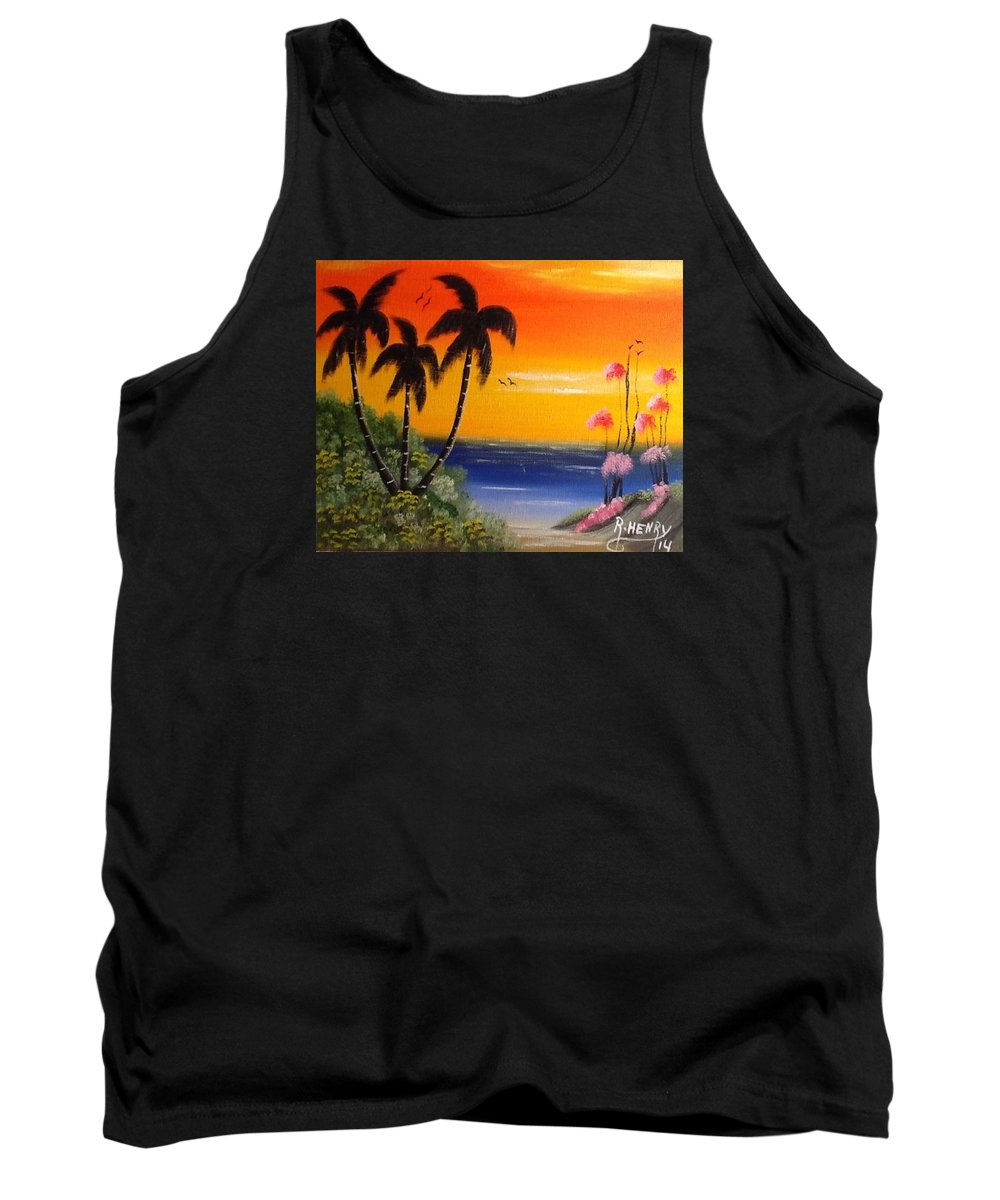 Art Tank Top featuring the painting Seescape by Reginald Henry