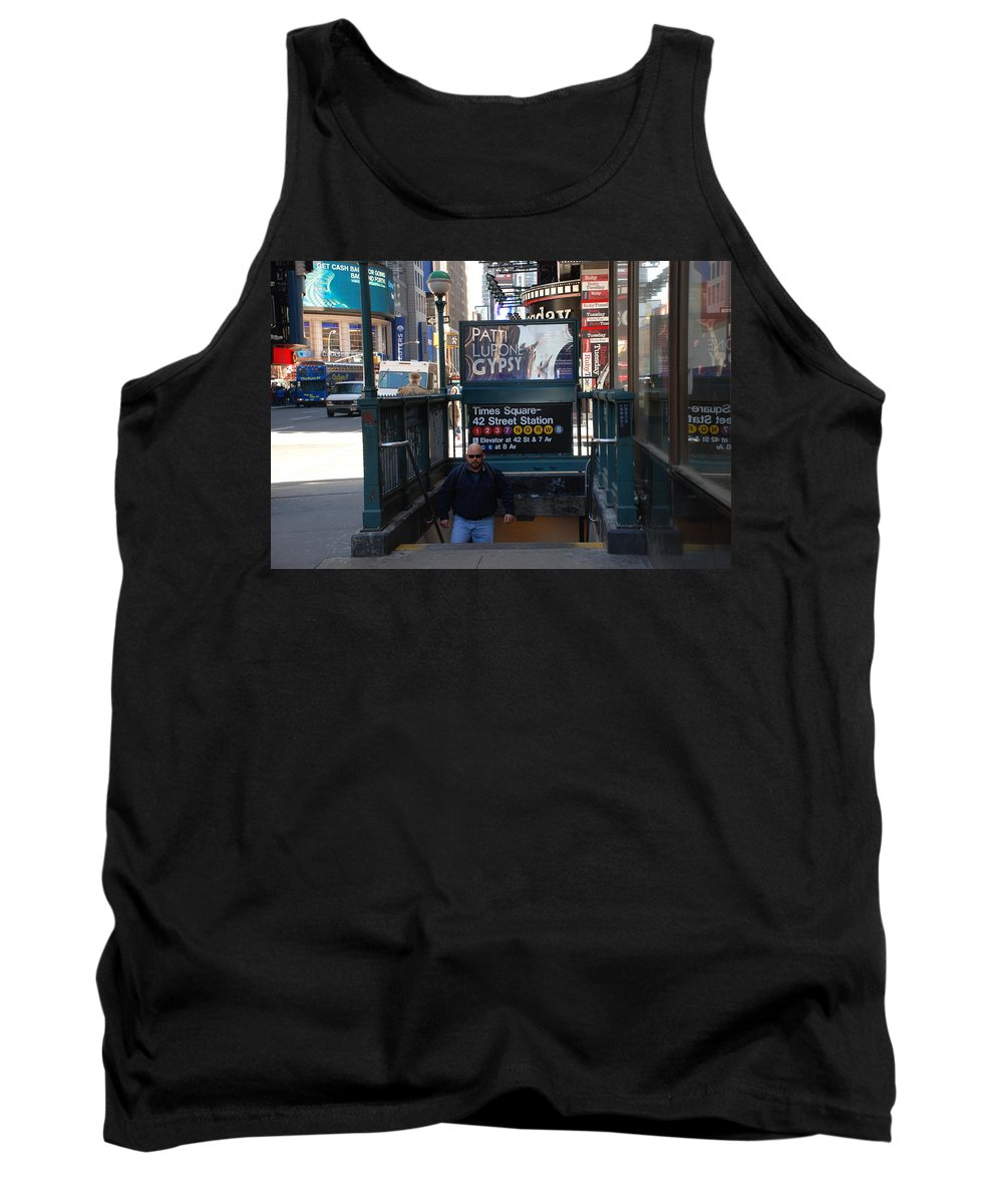 Subay Tank Top featuring the photograph Self At Subway Stairs by Rob Hans