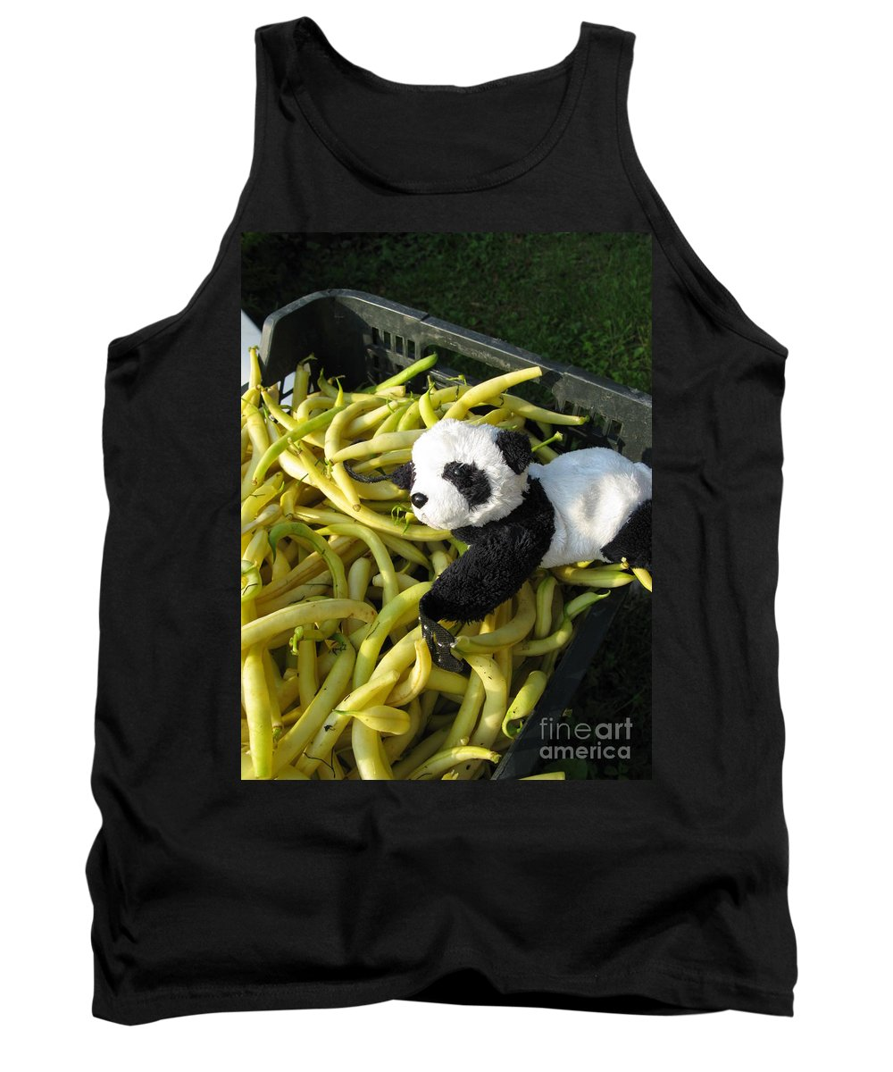 Baby Panda Tank Top featuring the photograph Selling Beans by Ausra Huntington nee Paulauskaite