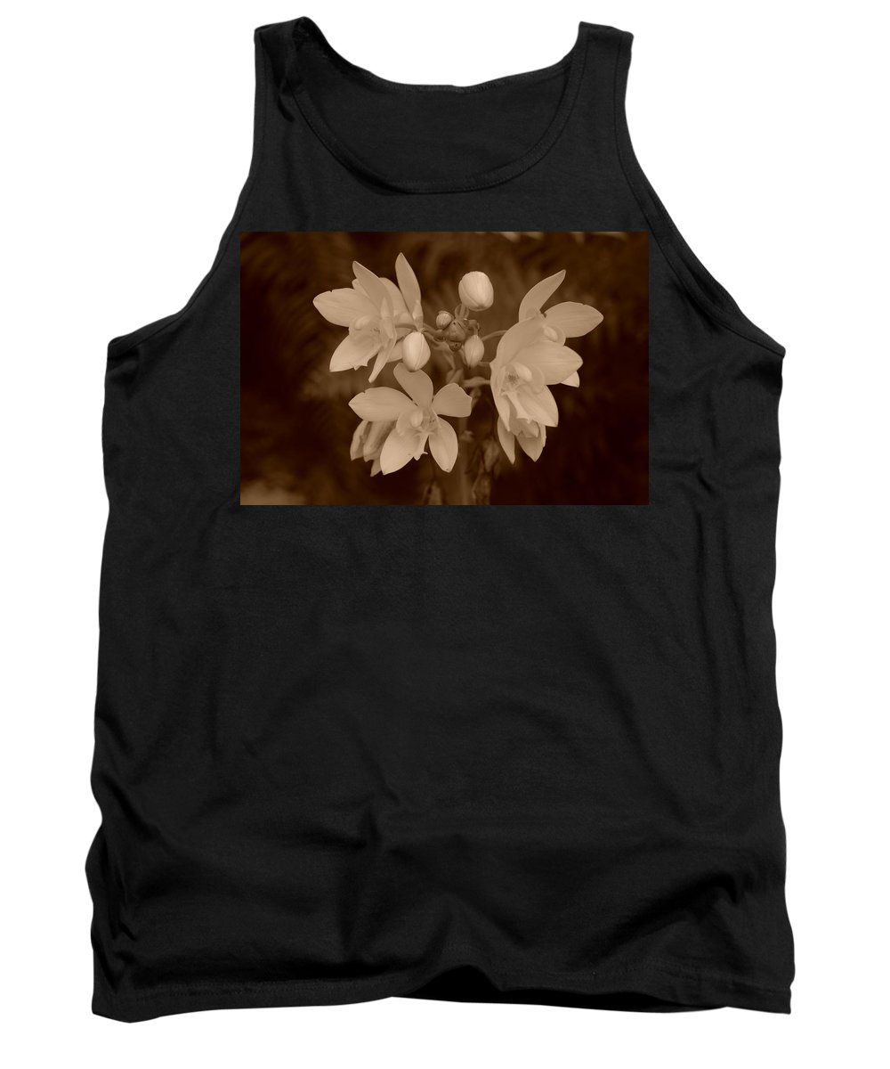 Macro Tank Top featuring the photograph Sepia Flower by Rob Hans