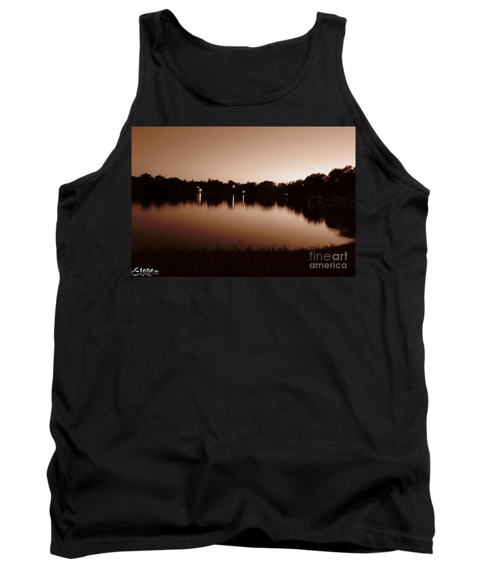 Sunset Tank Top featuring the photograph Sepia Sunset by September Stone