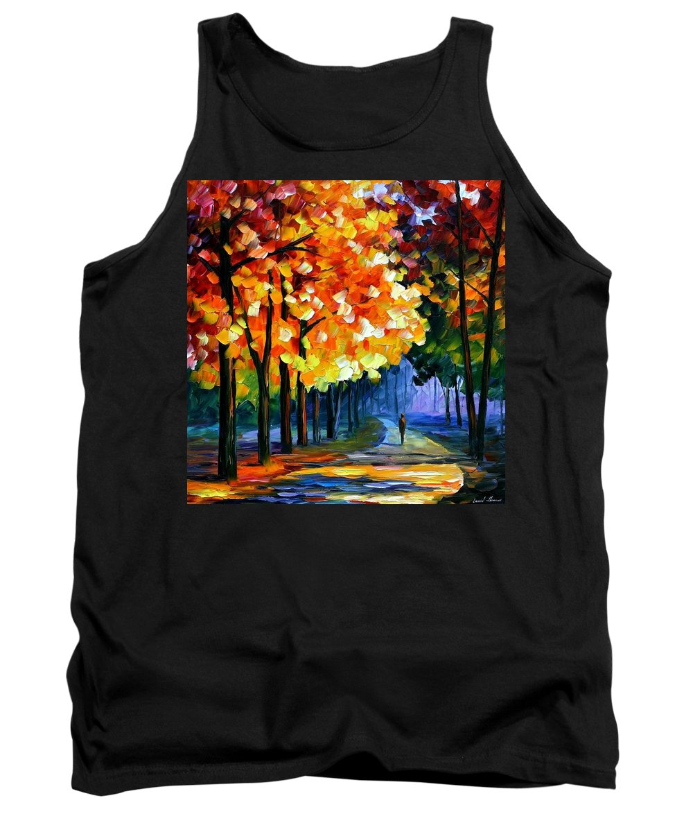 Afremov Tank Top featuring the painting September by Leonid Afremov