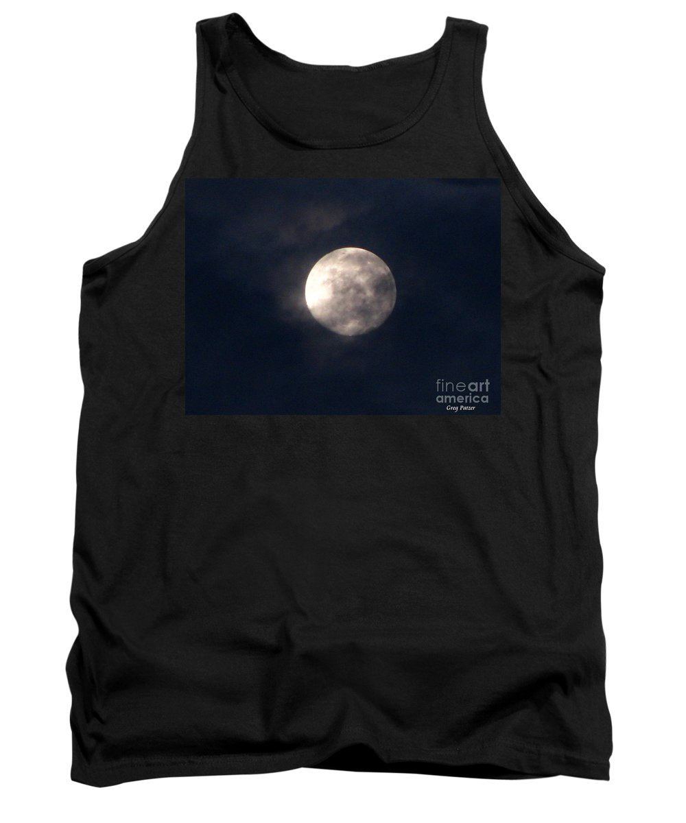 September Moon Tank Top featuring the photograph September Moon by Greg Patzer