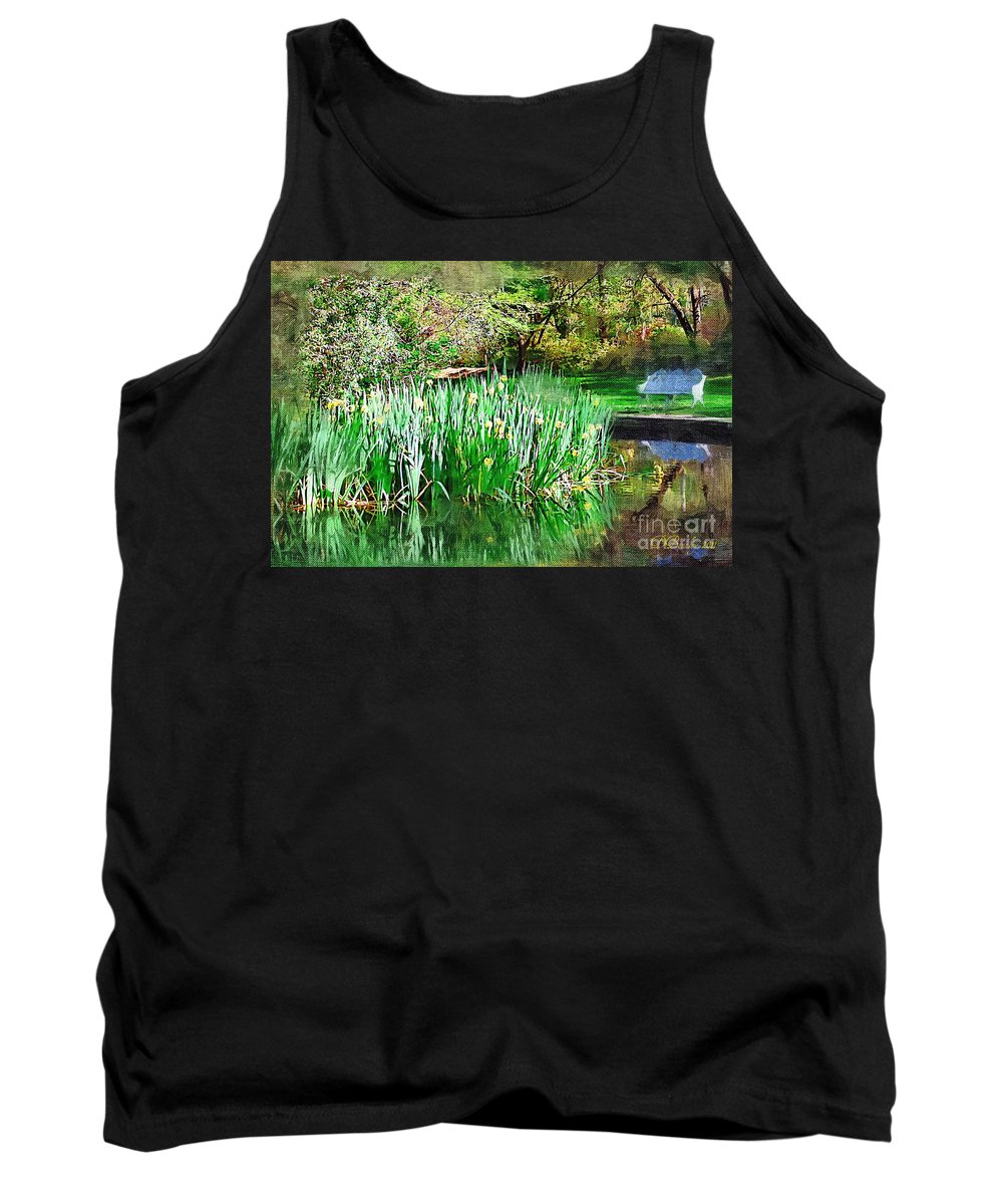 Park Tank Top featuring the photograph Serene Iris by Donna Bentley