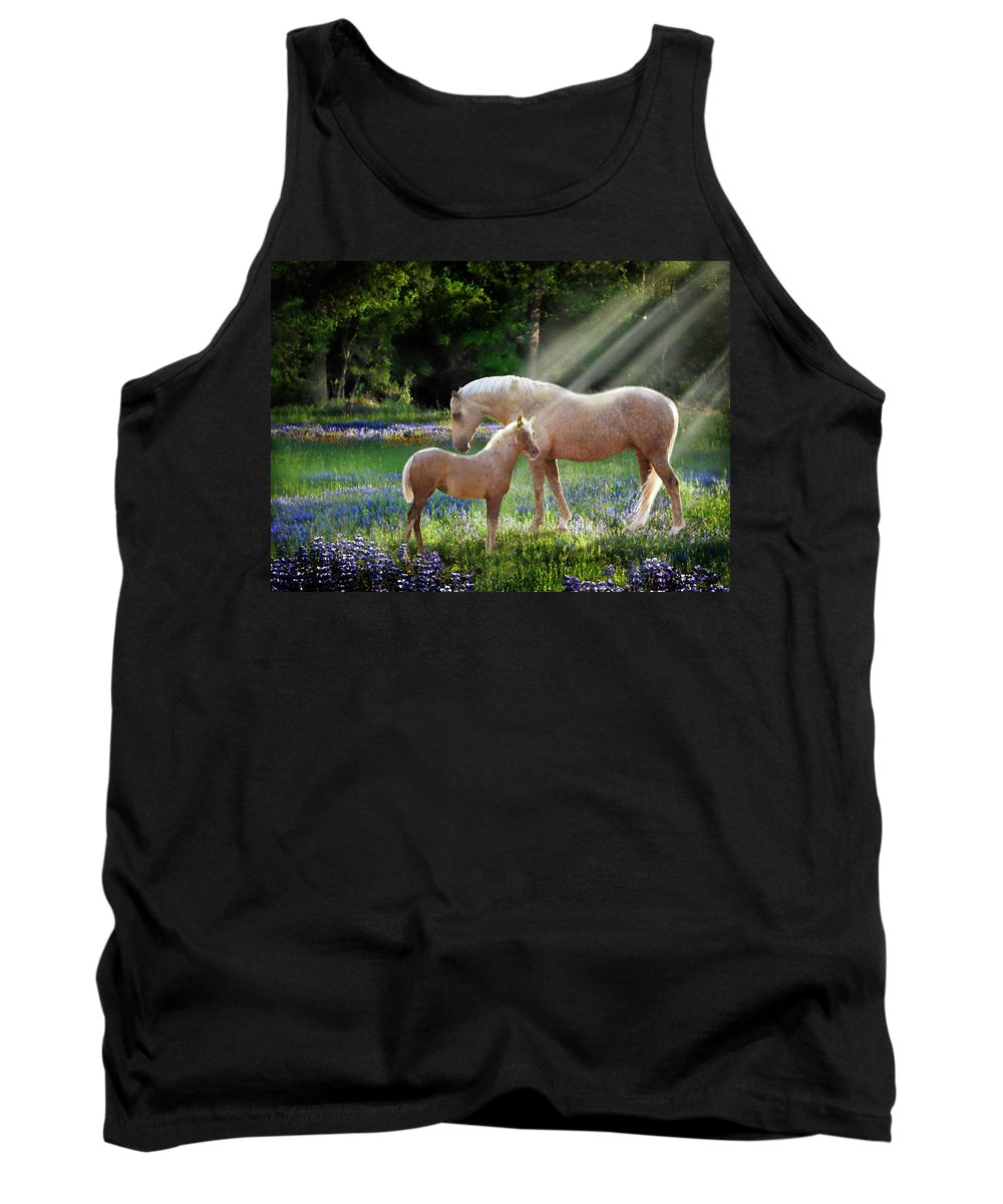 Horse Photography Tank Top featuring the photograph Serenity by Melinda Hughes-Berland