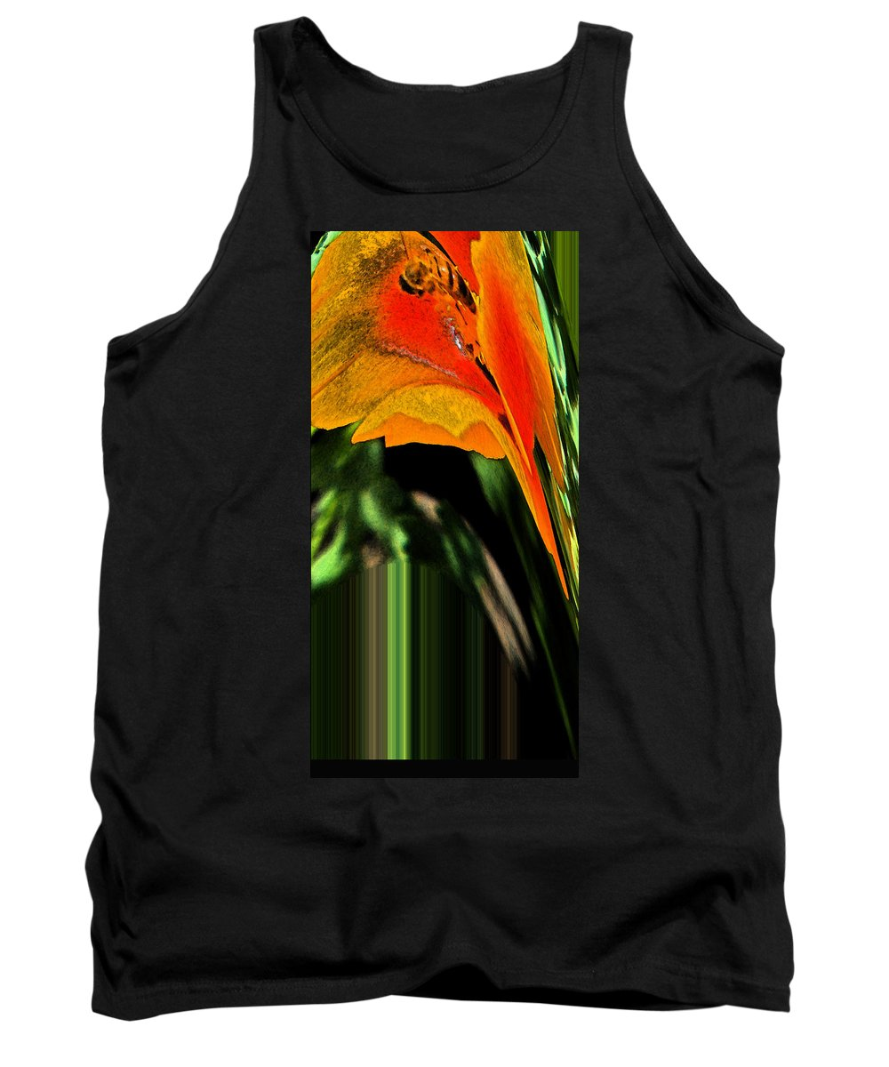 Abstract Tank Top featuring the digital art Serving The Queen by Lenore Senior