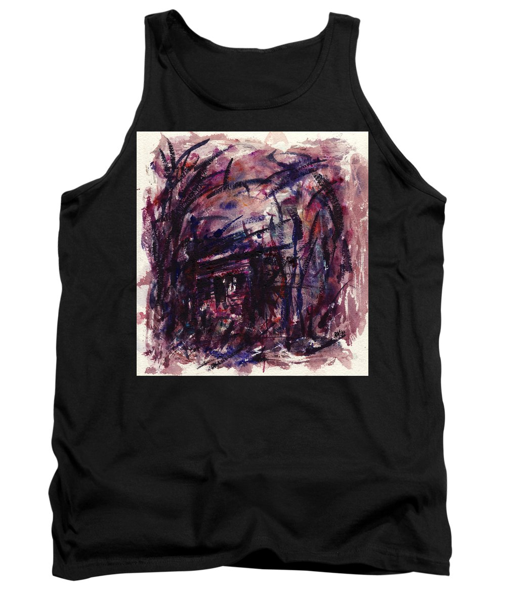 Shack Tank Top featuring the painting Shack Third Movement by Rachel Christine Nowicki