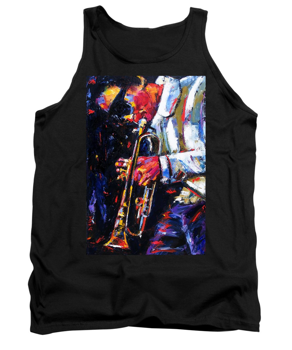Miles Davis Tank Top featuring the painting Shades by Debra Hurd