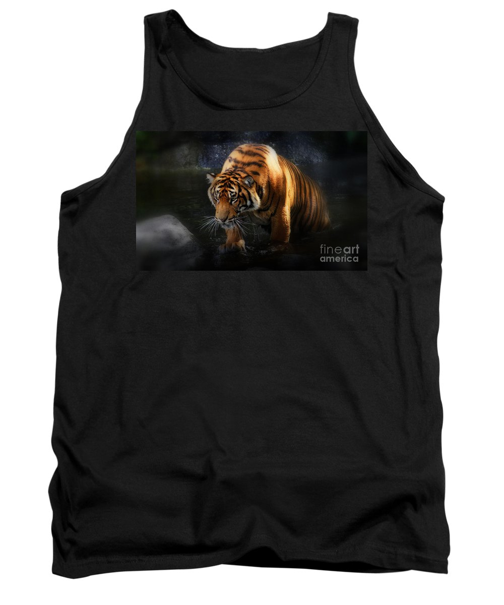 Animals Tank Top featuring the photograph Shadows And Light by Kym Clarke