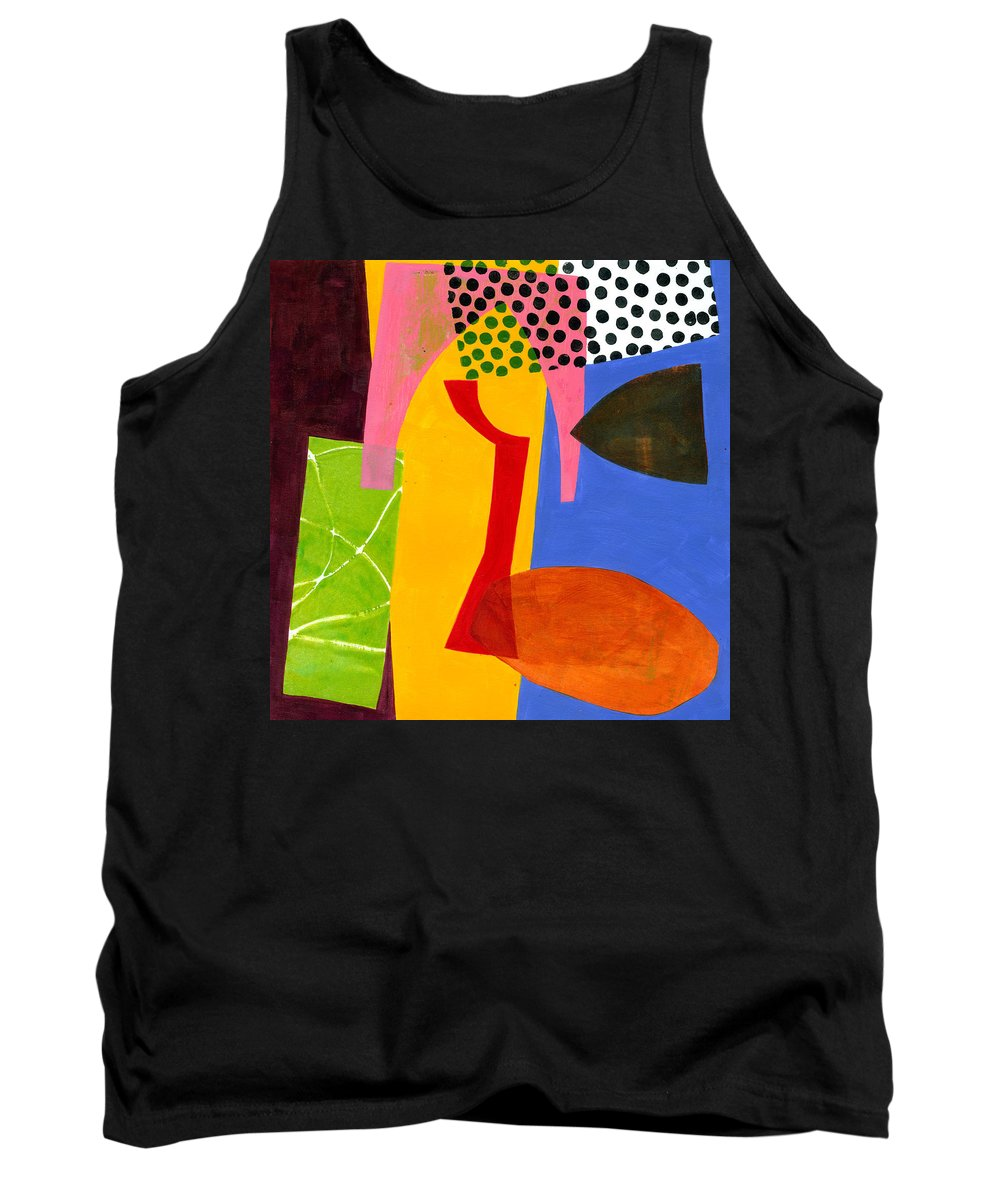 Jane Davies Tank Top featuring the painting Shapes 4 by Jane Davies