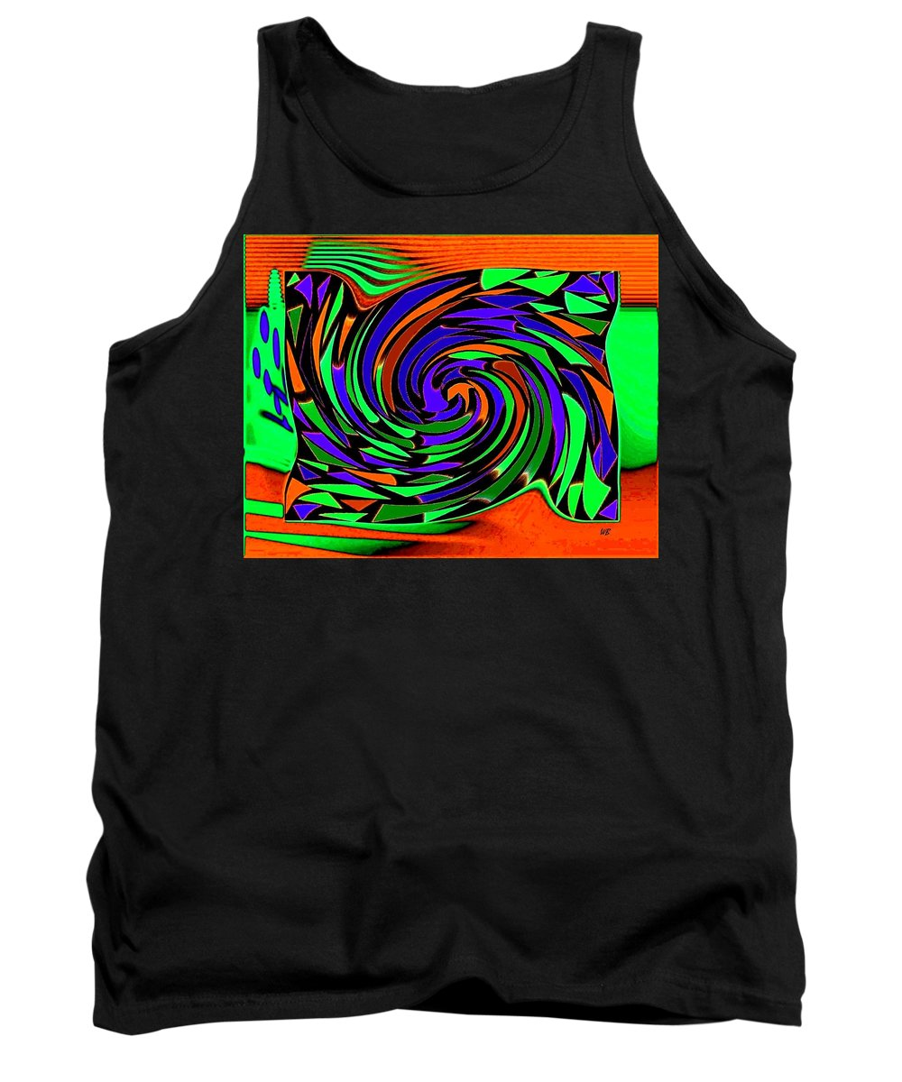 Sahara Tank Top featuring the digital art Shifting Sands by Will Borden