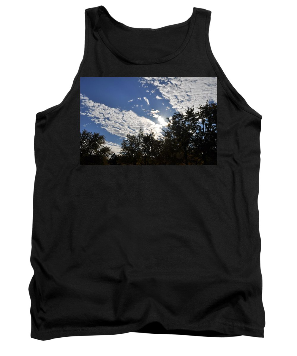 Sunny Sky Tank Top featuring the photograph Shine And Smile by Georgeta Blanaru