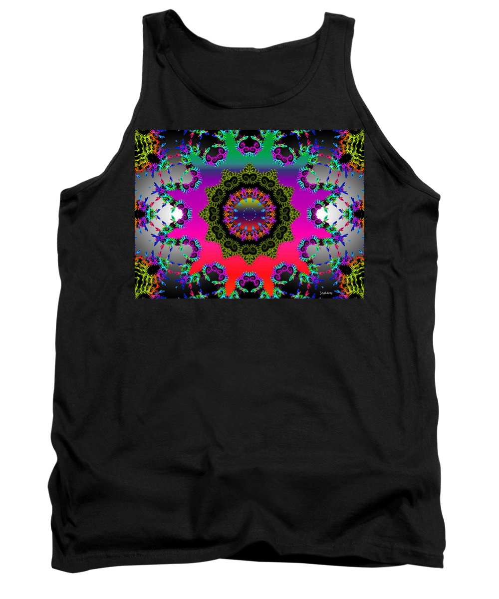 Flower Tank Top featuring the mixed media Shine On by Robert Orinski