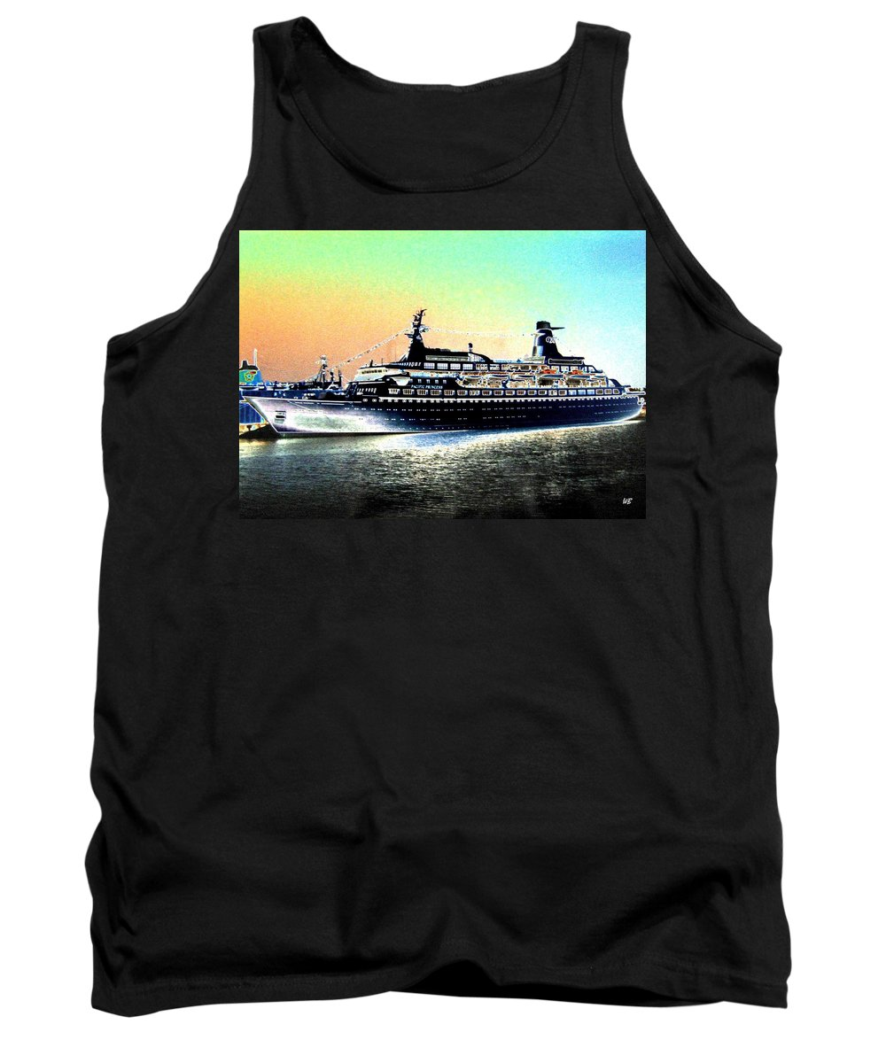 Photo Design Tank Top featuring the digital art Shipshape 1 by Will Borden