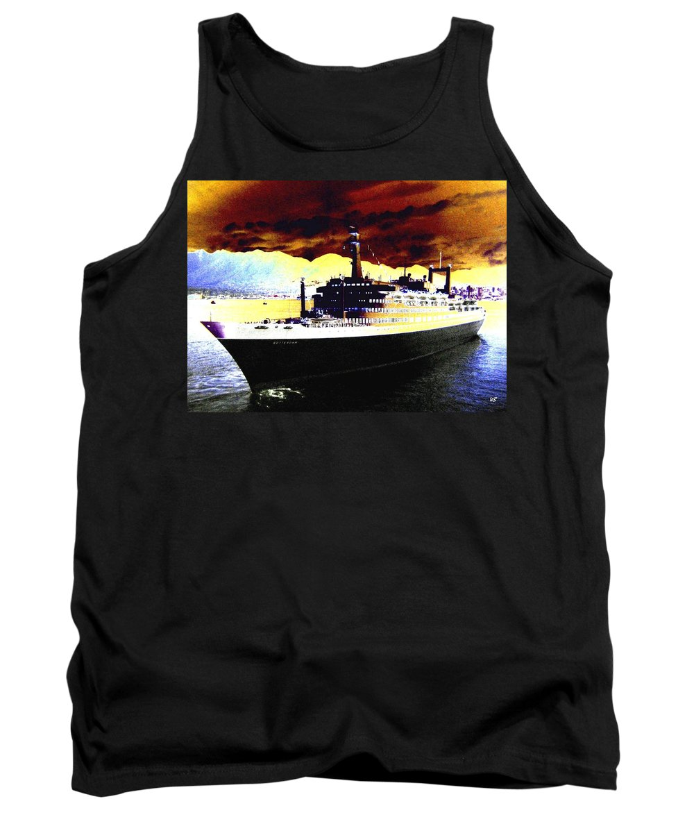 S S Rotterdam Tank Top featuring the digital art Shipshape 3 by Will Borden