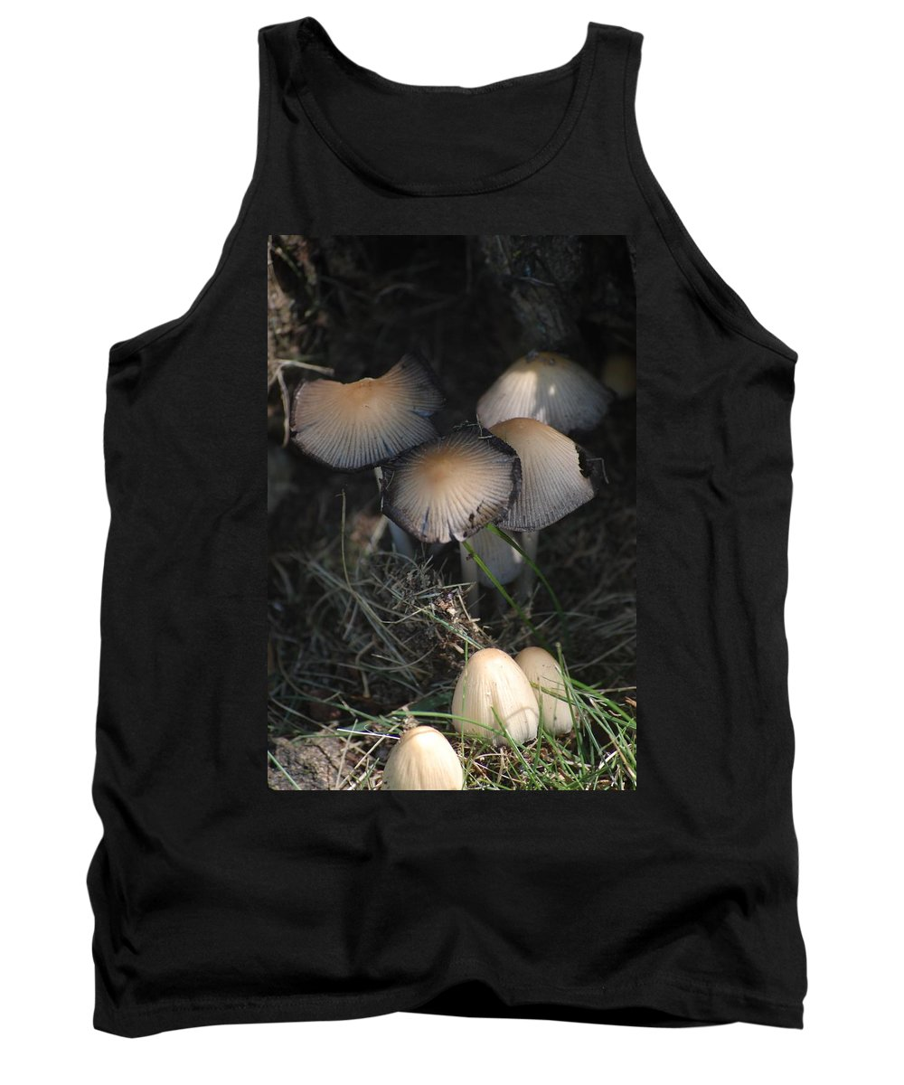 Digital Photograph Tank Top featuring the photograph Shrooms 1 by David Lane