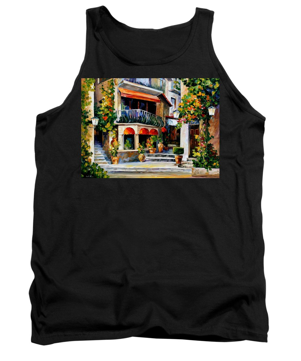 Afremov Tank Top featuring the painting Sicily - Spring Morning by Leonid Afremov