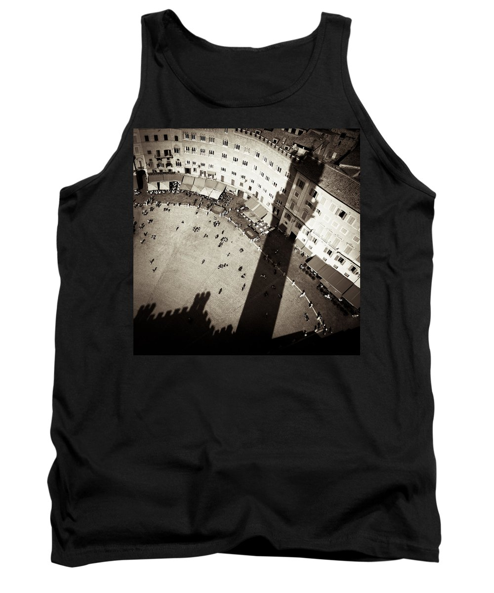 Siena Tank Top featuring the photograph Siena From Above by Dave Bowman