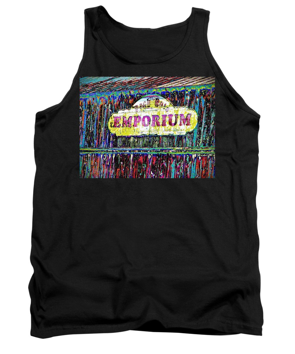 Sign Tank Top featuring the photograph Sign Of The Times by Leslie Revels