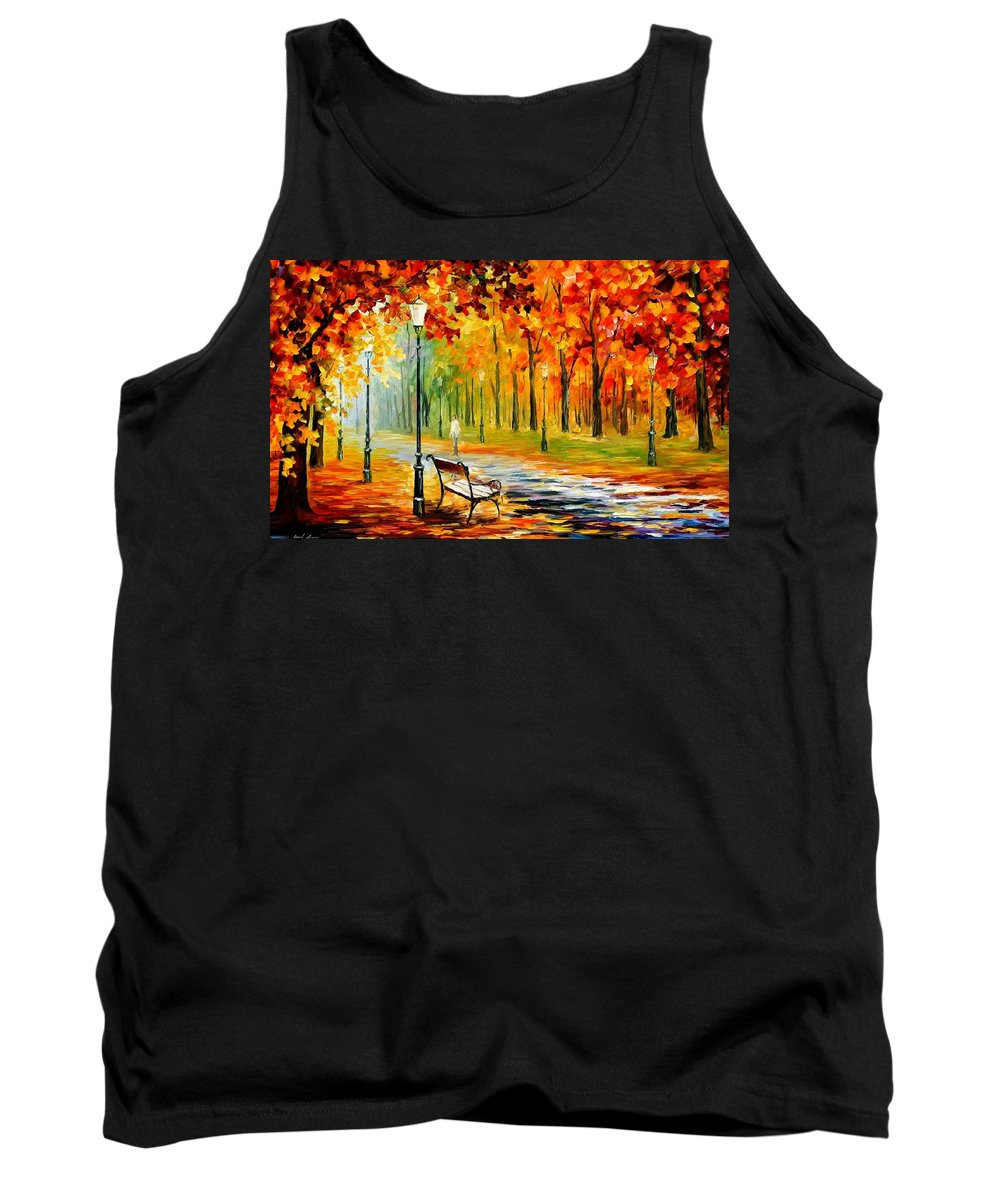 Afremov Tank Top featuring the painting Silence Of The Fall by Leonid Afremov
