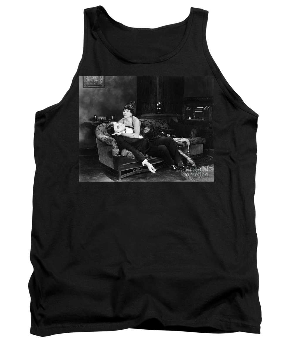 -fainting- Tank Top featuring the photograph Silent Film Still: Fainting by Granger