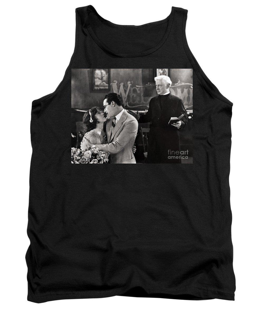 -nec09- Tank Top featuring the photograph Silent Film Still: Wedding by Granger