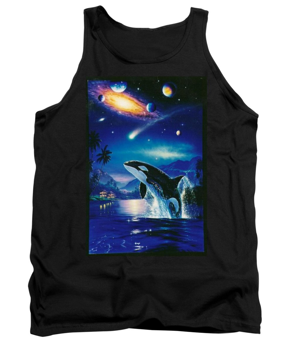 Sea Tank Top featuring the digital art Silent Journey Christian Riese Lassen by Eloisa Mannion